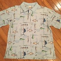 Columbia Polo Shirt With Fish Prints Size L Photo