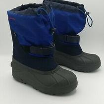 Columbia Powderbug Winter Snow Boots Blue By1302-464 Waterproof Big Boy Youth 6  Photo
