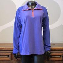 Columbia Purple Coral Half Zip Long Sleeve Athletic Fleece Pullover - Large Photo