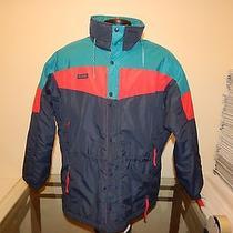 Columbia Radial Sleeve Mens Ski Jacket Medium Blue/red/teal Nice Jacket Photo