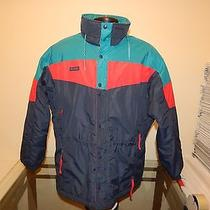 Columbia Radial Sleeve Mens Ski Jacket Medium Blue/red/teal Nice Jacket Photo