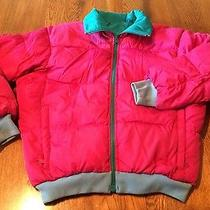 Columbia Radial Sleeve Pink/teal Reversible Down Coat Jacket Women's Size M Photo