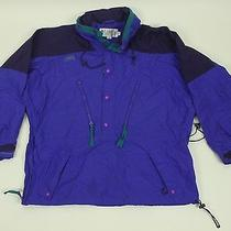 Columbia Radial Sleeve Pullover Jacket Xl Purple Ski Snow 1/2 Zip Retro 90s Vtg Photo