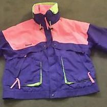 Columbia Radial Sleeve Purple Green Nylon Mens Xl Windbreaker Jacket Photo