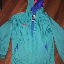 Columbia Radial Sleeve Vintage 1980's Color Block Hooded Jacket Mens Small Photo