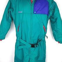 Columbia Radial Snowsuit Sleeve Green Purple Red Youth Extra Large Xl Vtg 90's Photo