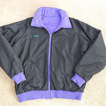 Columbia Reversible Thinsulate Nylon Jacket Radial Sleeve Black & Purple Xlt Photo