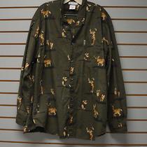 Columbia River Lodge Hunting Shirt Men's Xl Cotton Print Photo