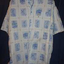 Columbia River Lodge Men's Blue Short Sleeve Shirt Xxl 2xl Sailfish Fishing Photo