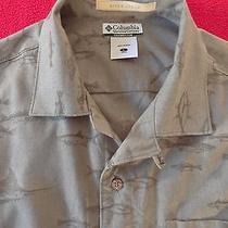 Columbia River Lodge Men's Short Sleeve Fishing Shirt  L  Photo