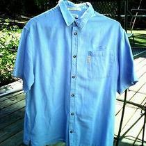 Columbia River Lodge Mens Xl Short Sleeve Shirt 9 Blue  Photo