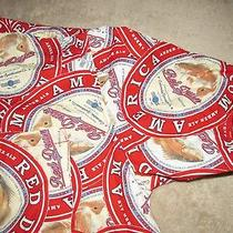 Columbia River Lodge Red Drum Amber Ale Beer Button Up Casual Shirt Sz Xxl Fish Photo