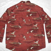Columbia River Lodge Shirt Mallard Ducks Size Xxl Euc Photo