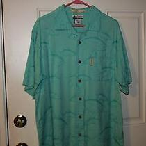 Columbia River Lodge Shirt Size Large Green Photo