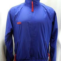 Columbia Royal Blue/red Radial Sleeve Zip Front Nylon/ultrex Jacket - Men's M Photo
