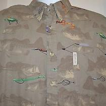 Columbia Shirt Xl Men's Camp Fishing Lures Photo