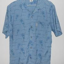 Columbia Short Sleeve Palm and Fish Design Large Photo