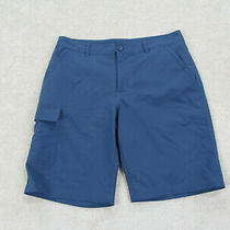 Columbia Shorts Mens 34 Blue Casual Fishing Fisherman Cargo Outdoors Mens B26 Photo