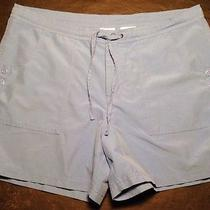 Columbia Shorts Women's Large Blue Preowned Nice Outdoor Casual Hiking Photo