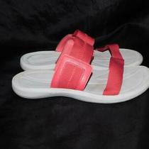 Columbia Size 7 Pink Caprizee Sandals Slides Flats Two Straps Summer Beach Pool Photo