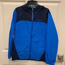 Columbia Size l(14-16) Boys Blue Full Zip Outdoor Hooded Windbreaker Jacket  Photo