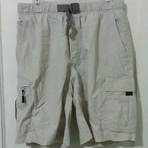 Columbia Size Medium Water Shorts Trunks Beige Photo