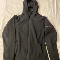 Columbia Size S Womens Black Full Zip Side Pockets Hooded Fleece Jacket Photo