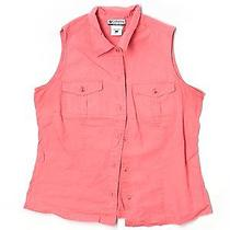 Columbia Sleeveless Blouse Lg Solid Photo