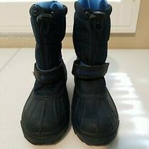 Columbia Snow Boots Boys Size 1 Blue Frost Flight Photo