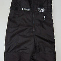 Columbia Snow Pants Tectonite 2 3 Black Reinforced Knees Seat Lined Boys Girls Photo