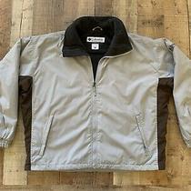 Columbia Soft Shell Gray Brown Jacket Fleece Lined Winter Full Zip Mens Xl Photo