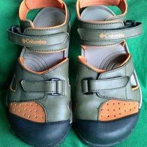 Columbia Splisher Boys Water Sports Sandals Green Orange Size 5 Photo