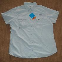 Columbia Sportswear Bahama Pfg Fishing Upf30 Shirt Blouse Womens Sz Large   Nwt Photo
