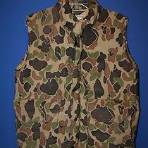 Columbia Sportswear Camo  Hunting Fishing Insulated Vest.. Size M  Euc  Photo