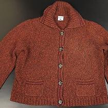 Columbia Sportswear Cardigan Sweater Women L Rust Burgundy Flecked Outdoor Photo