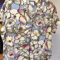 Columbia Sportswear Co Camp Shirt Sz Xl Beautiful Stained Glass Print-Great Top Photo