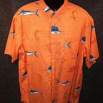 Columbia Sportswear Co Game Fish on Orange Sportfishing Shirt Sz Xl Photo