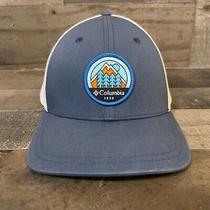 Columbia Sportswear Company Blue Adjustable Mesh Truckers Fishing Hat Cap 1938 Photo