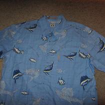 Columbia Sportswear Company Fishing Fish Rivers Lodge Dress Hawaiian Shirt 2xl Photo
