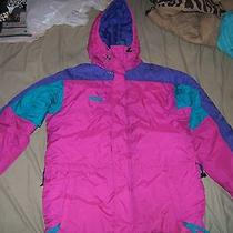 Columbia Sportswear Company Hooded Coat Sz L Youth Radial Sleeve Multicolor Euc Photo