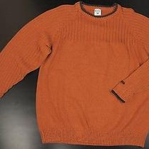 Columbia Sportswear Cotton Sweater Men Xxl Orange Crew Neck Outdoor Photo