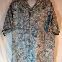 Columbia Sportswear Fishing Shirt Size Xxl Mens Fish Print Photo