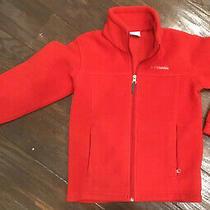 Columbia Sportswear Full Zip Up Red Fleece Unisex Girls Boys Jacket Size S 8 E Photo
