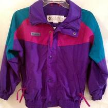 Columbia Sportswear Girls Jacket Coat M Purple Pink Windbreaker Radial Sleeves Photo