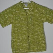Columbia Sportswear Green Fish Short Sleeve Casual Button Down  Photo