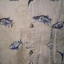 Columbia Sportswear Hawaiian Camp Shirt Fish Fishing Marlin Cotton Xl Photo