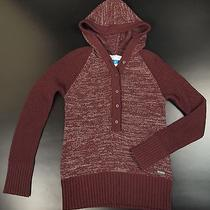 Columbia Sportswear Hooded Sweater Women M Burgundy Pullover Outdoor Photo