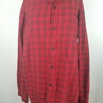 Columbia Sportswear Men's Xl Red Plaid Button-Front L/s 100% Cotton Shirt  Photo