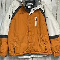Columbia Sportswear Mens Full Zippered Jacket  Size Large Orange Photo