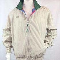 Columbia Sportswear Mens L Large Tan Jacket Radial Sleeve Retro Outdoors Coat Photo